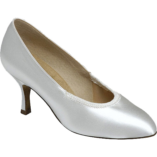 1008 - Ladies' Closed Toe Supadance White Satin
