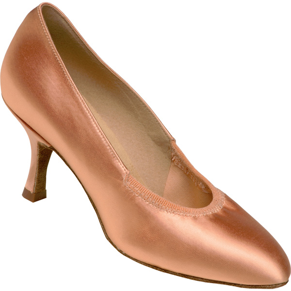 1008 - Ladies' Closed Toe Supadance Flesh Satin
