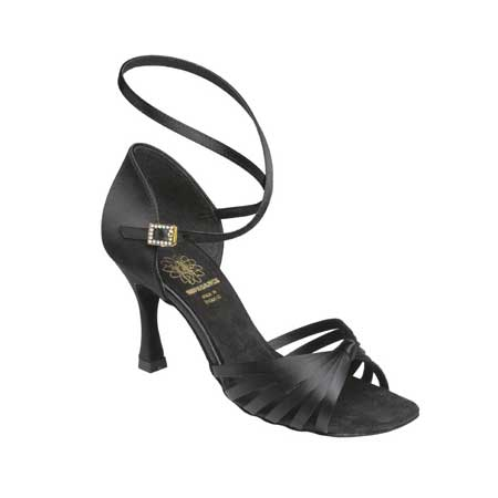 1066 - Ladies' Sandal Supadance Black Satin
