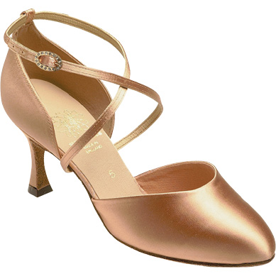 1208 - Ladies' Closed Toe Supadance Flesh Satin