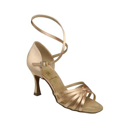 1403 - Ladies' Sandal Supadance Flesh Satin