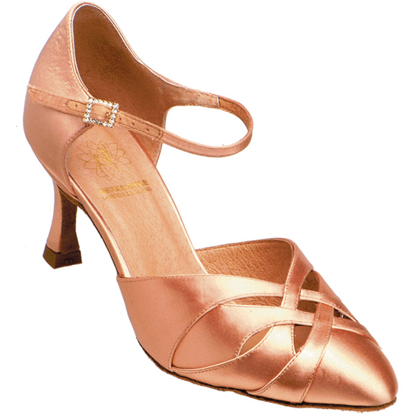 1531 - Ladies' Closed Toe Supadance Flesh Satin