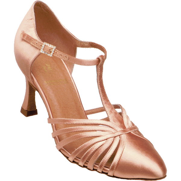 1534 - Ladies' Closed Toe Supadance Flesh Satin