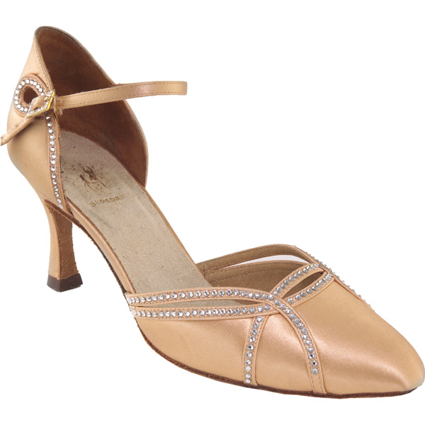 1542 - Ladies' Closed Toe Supadance Flesh Satin
