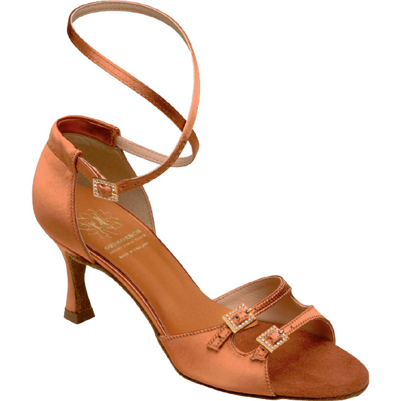 1618 - Ladies' Sandal Supadance Dark Tan Satin
