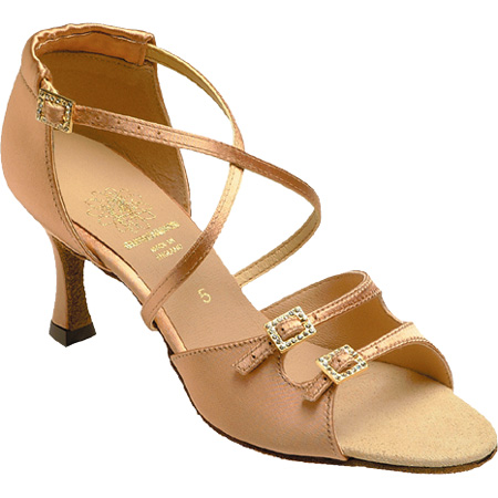 1618 - Ladies' Sandal Supadance Flesh Satin