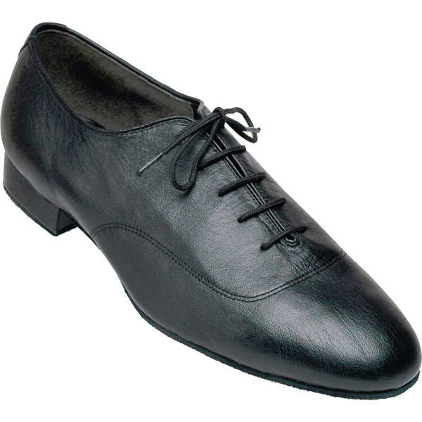 7500 - Men's Smooth Dance Club Black Leather