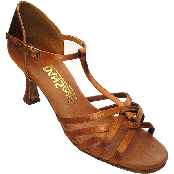 L305 - Ladies' Sandal DanSport by International Tan Satin