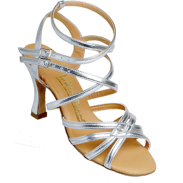 Nadia - Ladies' Sandal International Dance Shoes UK Silver Calf