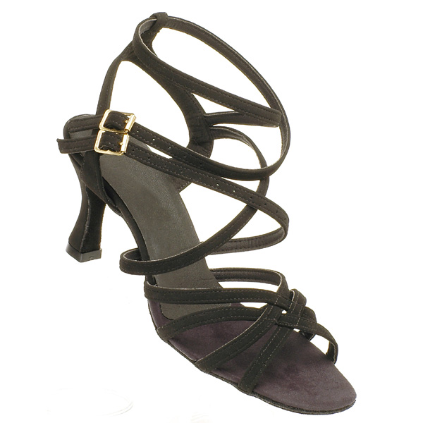 Nadia - Ladies' Sandal International Dance Shoes UK Black Nubuck