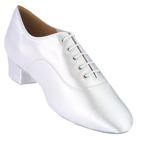 Rumba - Men's Latin International Dance Shoes UK Dyeable White Satin