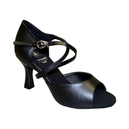 7835 - Ladies' Sandal Dance Club Black 2.5""